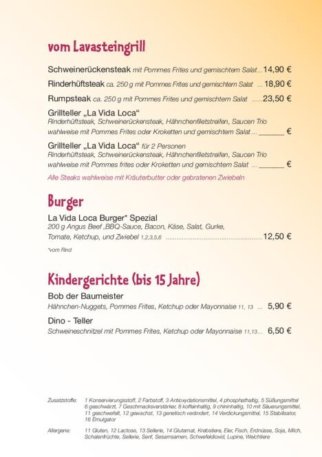 vom Lavasteingrill, Burger, Kindergerichte